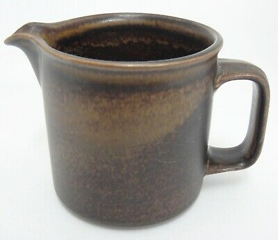 Vintage Pottery Brown Jug Small Pitcher Two Cup Capacity Very Nice