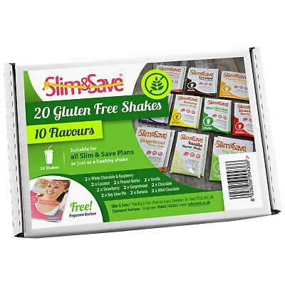 Slim & Save - 20 Gluten Free VLCD Diet Meal Replacement Shakes High In Protein