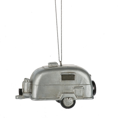 Midwest-CBK – Silver Camper Trailer RV Recreational Vehicle Camping Ornament