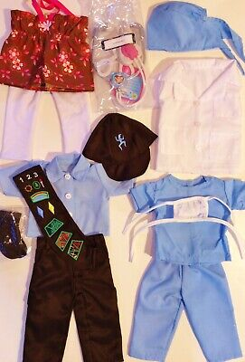 """Doll Clothes LOT Fits 18"""" American Girl Brownie Outfit, Nurse, Leggings  #34C"""