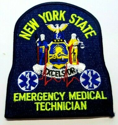 New York Emt Emergency Medical Technician Lime Green Letters Patch Unused