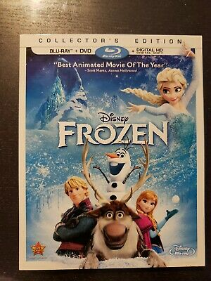 Frozen (Blu-ray/DVD, 2014, 2-Disc Set) Like New w/ Mint slip; No Digital
