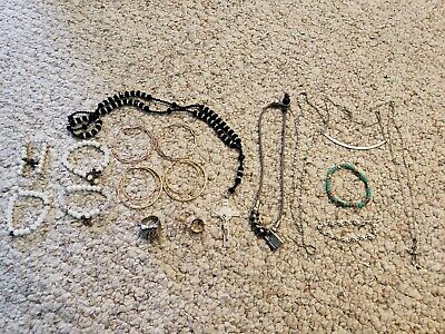 Costume Jewelry Junk Drawer Estate Sale Matched Earrings Necklace  champion ring