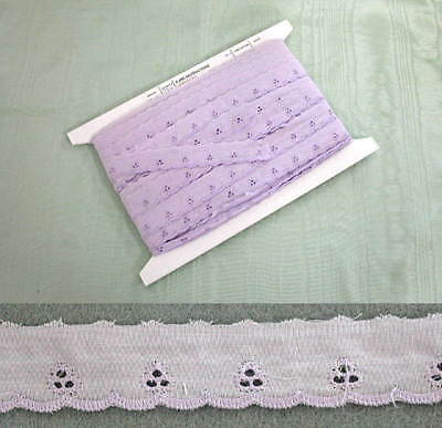 Broderie Anglaise Flat Lilac Lace -  1 roll of 274 metres
