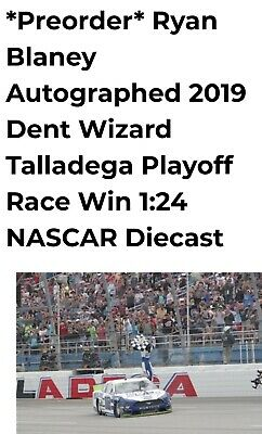 2019 Ryan Blaney Autographed #12 Dent Wizard/Dega Win 1/24 ARC Series PREORDER