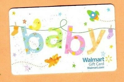 Collectible 2013 Walmart Gift Card - New Baby - No Cash Value - FD37725