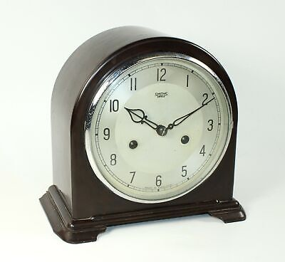 Smiths Enfield Time And Strike Clock - Bakelite - Zz535