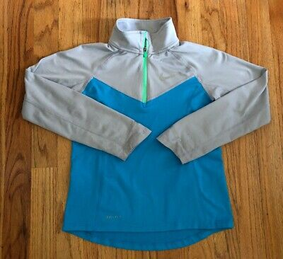 Nike Dri-Fit Girls Youth 1/4 Zip Pullover Top Size XS