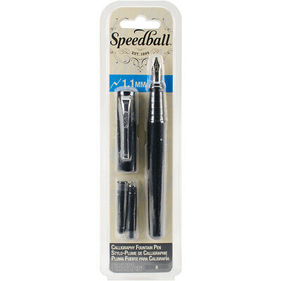 Speedball Calligraphy Fountain Pen 1.1mm-Black, SB2900