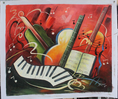 Hand-painted Home Decor Music art oil painting on canvas Modern Abstract H2203