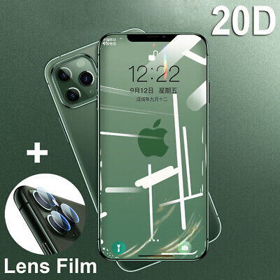 20D Full Cover Tempered Glass Film Screen Protector for iPhone 11 Pro Max X+Lens