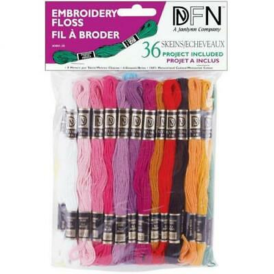 Janlynn 204920 Cotton Embroidery Floss Pack 8.7 Yards 36-pkg-pastel Colors