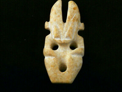 Fine Chinese Old White Jade *HongShan Culture Figure* Pendant K214