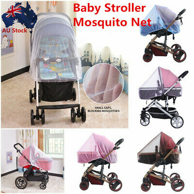 Baby Kid Stroller Pushchair Pram Mosquito Fly Insect Net Mesh Buggy Cover AU NEW