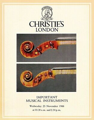 IMPORTANT MUSICAL INSTRUMENTS: Christie's London 1988  +results
