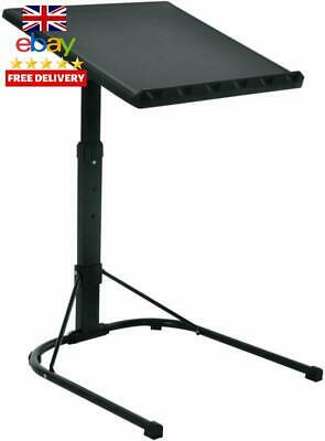 Folding Laptop Table Black With Adjustable Height And Tilt Angle Portable Gaming