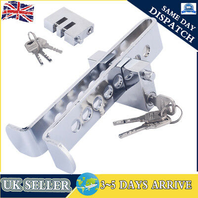 Silver Auto Car Brake Clutch Pedal Anti-Theft Lock Steering Wheel Lock Security