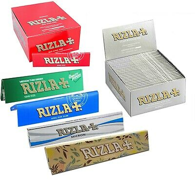 Rizla King Size Papers Green Silver Blue Red Micron genuine papers