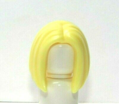 Lego 1 Hair Wig For Female Girl Minifigure Yellow Blonde Side Ponytail Magenta