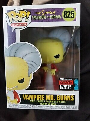 2019 Nycc Shared Exclusive Simpsons Tree House Of Horror Mr Burns Fye Funko Pop