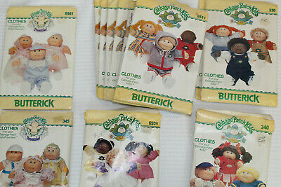 Lot 12 Vintage Butterick Cabbage Patch Kids Clothing Patterns Some Duplicates