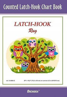 Counted Latch hook Chart Owls In A Tree 90x132 holes 46x69cm 3 purchase options