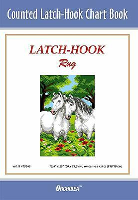 Counted Latch hook Chart White Horses 90x134 holes 46x69cm 3 purchase options