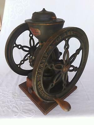 Antique Landers Frary & Clark Two Wheel Coffee Grinder Mill Rare #50 Cast Iron