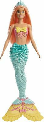 Barbie FXT11 Dreamtopia Mermaid Doll, Coral Hair New