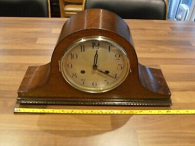 Antique Mahogany Cased Chiming Mantel Clock with Haller Movement for service