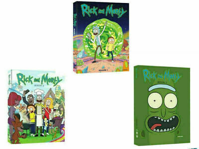 Rick and Morty: The Complete Series Season 1-3 (6-Disc DVD, Box Set) New