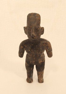 Jalisco Pre Columbian female dwarf standing figure