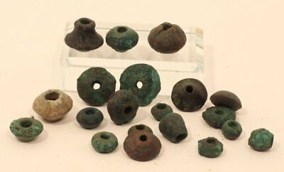 Pre Columbian S. American lost wax cast copper beads