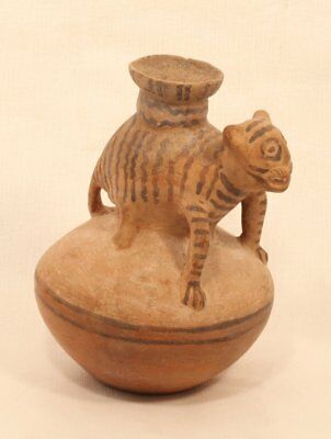 Chancay, 1000-1450 AD, central Peru pot with Jaguar