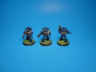 GW Warhammer 40K Space Marines x3 Painted Plastic pa