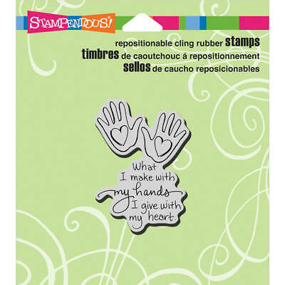 Stampendous Cling Stamp -Heart Hand, CRH326