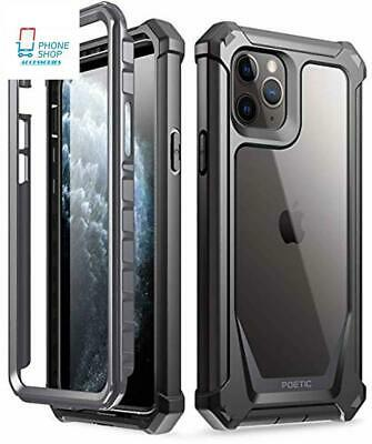 iPhone 11 Pro Case Rugged Clear Hybrid Shockproof Bumper Screen Protector Cover
