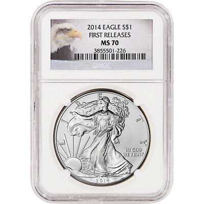 2014 American Silver Eagle - NGC MS70 - First Releases Eagle Label