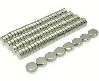 Super Strong Neodymium Magnets (6mm x 2mm) * Pull force 0.5Kg * Powerful Disc