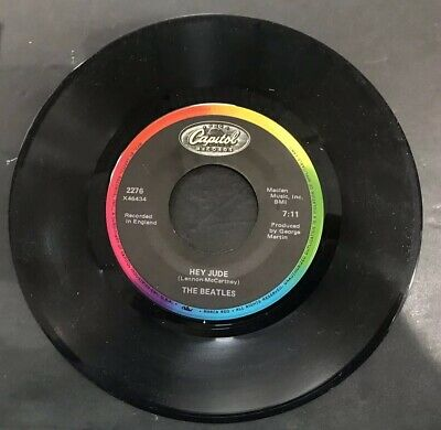 The Beatles Hey Jude - Revolution Capitol Rainbow Reissue 1983