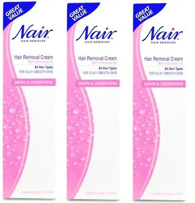 Nair Bikini Underarm Hair Removal Cream With Cottonseed Oil 90ml All Hair Types