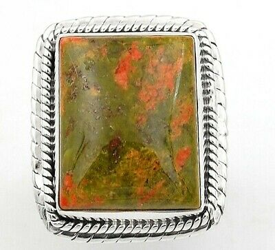 Wonderful Art Unakite 925 Solid Sterling Silver Ring Jewelry Sz 7, C12-7