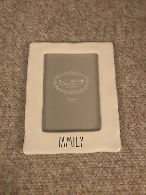 Rae Dunn Artisan Collection By Magenta FAMILY Ceramic Photo Picture Frame LL 5x7