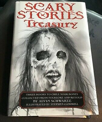 Scary Stories Series: Scary Stories Treasury by Alvin Schwartz (1985, Hardcover)