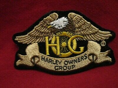 Hog Harley Owners Group Eagle Logo Vintage Sewn Patch New Iron On Davidson Rare