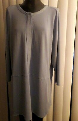 NWT Ladies Plus Lauren by Ralph Lauren Light Blue Tunic Top - size 3X