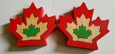Wooden Canadian Maple leaf puzzles