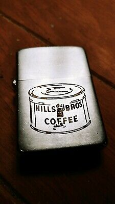 1960s Zippo lighter rare Hill Bros Coffee can very nice antique used old light