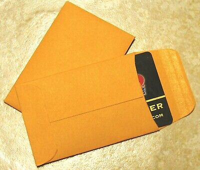 #A-1 MANILA COIN ENVELOPES - 2.25 X 3.5 Inches - Credit Card Size
