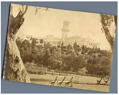Australia, Melbourne, Government house vintage print Tirage albuminé  10x14